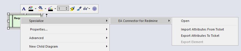EA Connector for Redmine
